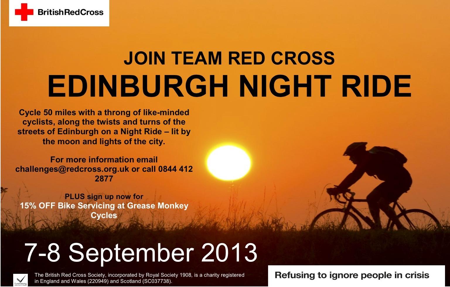 Edinburgh Night Ride 7-8 September